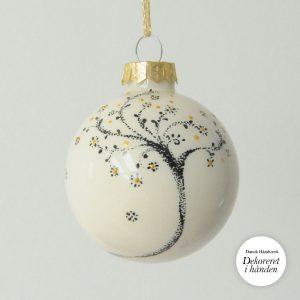 Hånddekorerede glas Julekugler | Illustrator Katrine Hauerslev