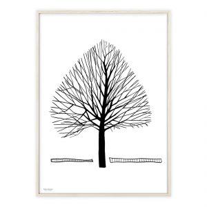Enkelt Træ plakat håndtegnet | Illustrationer af Katrine Hauerslev